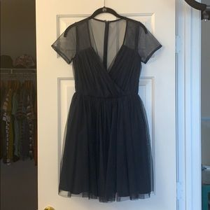 Sheer sleeve and back ASOS tulle dress - size 4